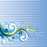 Blue flourish background. A blue flourish background with lines royalty free illustration