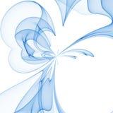 Blue flower. Auqa background stock illustration