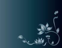 Blue flower. On dark gradient background Stock Photo