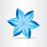 Blue flower abstract design Stock Image