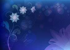 Blue flower background Royalty Free Stock Image