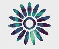 Blue flower background. Vector abstract flower. Paper art cut. Origami concept. For web and print, wallpaper, cards, flyers, posters brochure banners royalty free illustration