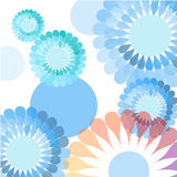 Blue flower background Royalty Free Stock Photos
