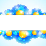 Blue Flower Banner Royalty Free Stock Images