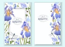 Blue flower banners Stock Photos