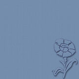 Blue flower on blue background Royalty Free Stock Images