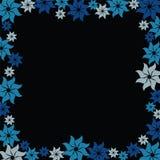 Blue flower burst Stock Images