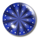 Blue Flower Button Orb Stock Photography