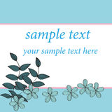 Blue flower card pattern design, Royalty Free Stock Photo