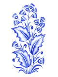 Blue flower composition. Blue, flower composition, hand drawn, illustration in Ukrainian folk style Royalty Free Stock Photography