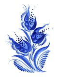 Blue flower composition. Blue, flower composition, hand drawn, illustration in Ukrainian folk style stock illustration