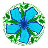 Blue flower drawing royalty free stock images