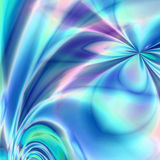 Blue flower fantasy. Abstract design with pretty pastels of blues, greens, pinks and purple colors with a surreal dreamy fantasy garden flower theme Stock Image