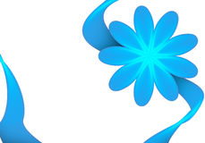 Blue flower frame royalty free stock photos