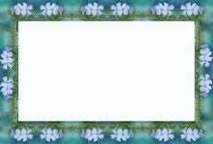 Blue flower frame 2. Pale blue, flower border,frame stock illustration
