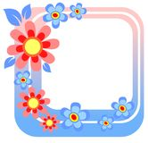 Blue flower frame Royalty Free Stock Images