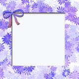 Blue flower frame Royalty Free Stock Photography