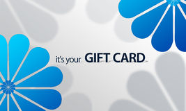 Blue Flower Giftcard Stock Images
