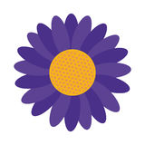 Blue flower icon Royalty Free Stock Photography