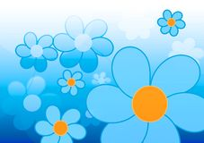 Blue flower illustration Stock Photo