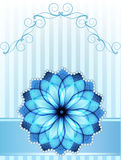 Blue flower royalty free illustration