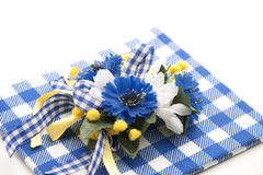 Blue flower jewelry Stock Image