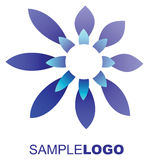 Blue flower logo Royalty Free Stock Photography