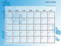 Blue flower month planner Stock Images