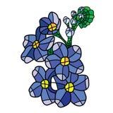 Vector mosaic flower royalty free illustration