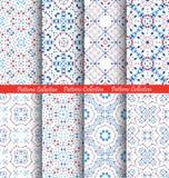 Blue Flower Pattern Backgrounds Stock Image