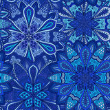 Blue Flower Pattern Boho Background Royalty Free Stock Photography