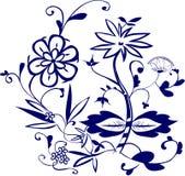 Blue flower pattern Royalty Free Stock Image