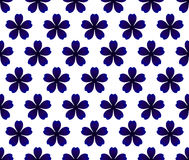 Blue flower pattern. Seamless porcelain indigo blue and white simple art decor vector, Chinaware design, blue flower pattern ceramic, porcelain background Stock Photos