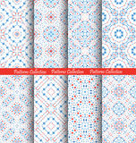 Blue Flower Patterns Intricate Backgrounds Royalty Free Stock Images