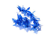 Blue flower petals. Closeup of blue flower petals isolated on white background Stock Photography
