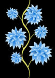 Blue flower petals tree Stock Photography