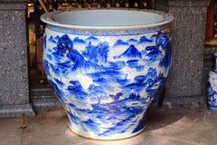 Blue flower porcelain Royalty Free Stock Photo