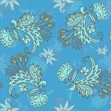 Blue flower seamless pattern Stock Photography