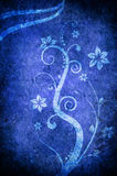Blue flower texture. A blue texture with flowers and brach Stock Photography