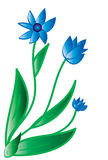 Blue flower. Vector Stock Image
