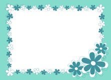 Blue flowered frame Stock Photo