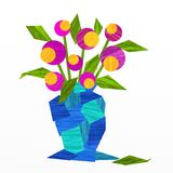 Blue flowerpot Royalty Free Stock Image