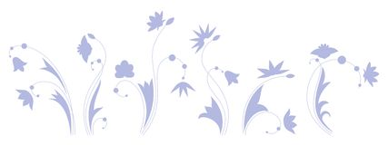 Blue flowers. Stock Photos
