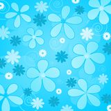 Blue  flowers. Illustration of retro styled blue  flowers background Royalty Free Stock Images