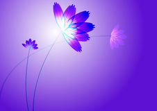 Blue flowers. Blue flower, in light blue background, computer generated vector illustration