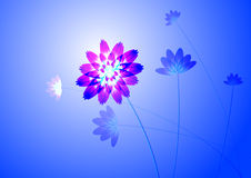 Blue flowers. Blue flower, in light blue background, computer generated Stock Image