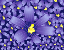 Blue flowers background. Illustration Royalty Free Illustration
