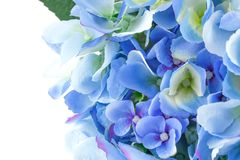 Blue flowers. Blue fabric flowers closeup picture Stock Images