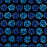 Blue flowers, dark background,  seamless pattern Royalty Free Stock Photos
