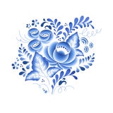 Blue flowers floral russian porcelain beautiful Royalty Free Stock Image